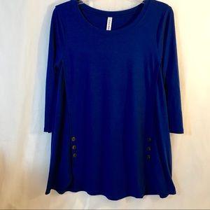 Zenana Premium Royal Blue scoop neck blouse